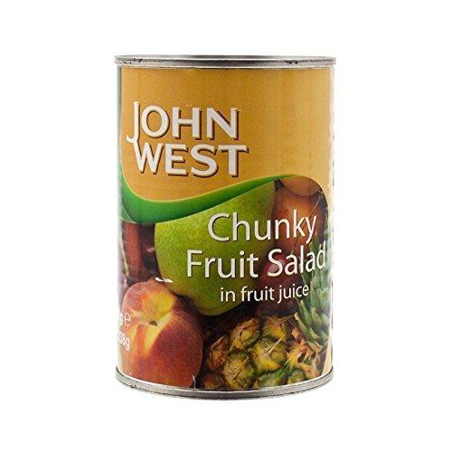Waitrose Essentielle / John Salade De Fruits Tropicaux Ouest Dans Un Sirop Léger Et Jus 425G - Paquet de 6