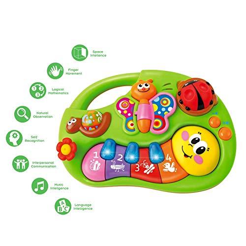 Juguete Educativo de Aprendizaje Musical Eléctrico, Juguete Bebés para Niños Pequeños, Piano Musicales Juguetes para Infantil