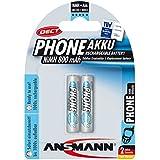 ANSMANN maxE DECT Micro 2x AAA Battery Type 800mAh faible auto-décharge batterie de téléphone pour les téléphones sans fil (2-pack)