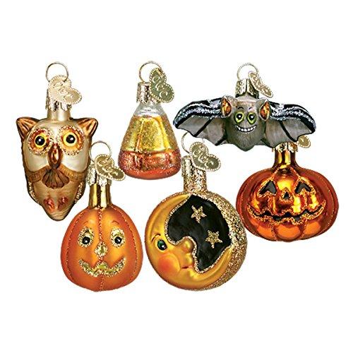 Old World Christbaumschmuck: Halloween Kitty Glas geblasen Ornamente für Weihnachtsbaum Miniatur-Halloween 1¼