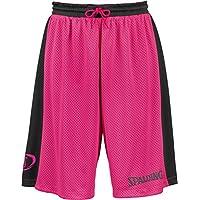 Spalding Essential Reversible P Shorts de Basquetball con Cinturilla Elástica y Logo, Hombre