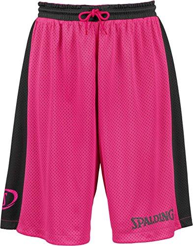 Spalding Bekleidung Teamsport Essential Reversible Shorts Herren, schwarz/pink S