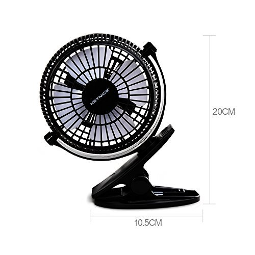 Keynice Mini USB Clip And Desk Personal Fan, Quiet