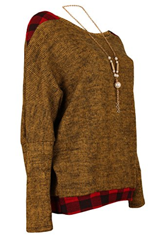Moda Italy - Pull - Pull - Femme Taille unique Ocre