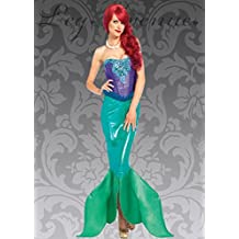 Womens Deluxe Little Mermaid Style Costume S (UK