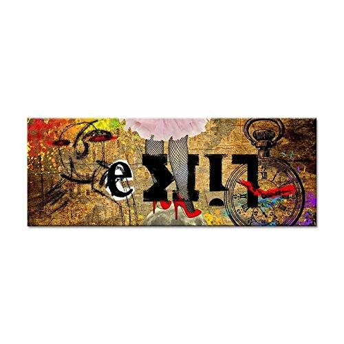 VINTAGE Tableau déco toile imprimée 80x30 cm beige