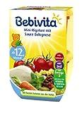 Bebivita Mini-Rigatoni mit Sauce Bolognese, 4er Pack (4 x 500 g)