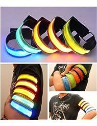Juego de 5 brazaletes con luz de seguridad LED y correa reflectante