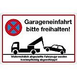 Wandkings Hinweisschild - Garageneinfahrt bitte freihalten! - stabile Aluminium Verbundplatte - Wähle eine Größe - 30x20 cm