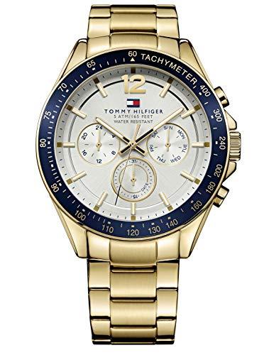 orologio da uomo al quarzo tommy hilfiger 1791121, con visualizzazione multi-quadrante e cinturino in acciaio inox.