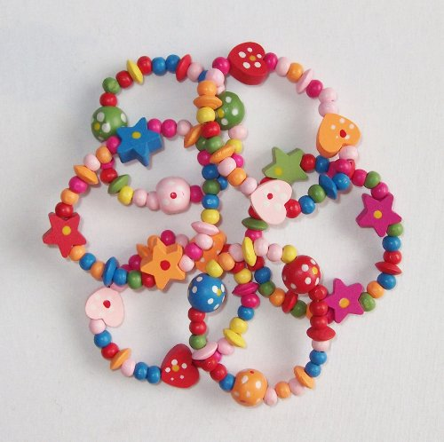 8-x-colourful-wooden-girls-bracelets-ideal-as-goody-loot-party-bag-filler-jewellery
