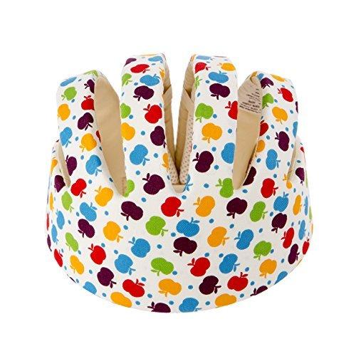 Newcomdigi Baby Helmet Schutzhelm Babyhelm Helmmütze Kopfschutzmütze gegen Stöße für Kleinkind aus weicher Baumwolle Verstellbar Stoßfest