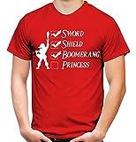 Link Checkliste Männer und Herren T-Shirt | Spruch Zelda Triforce Geschenk (M, Rot)