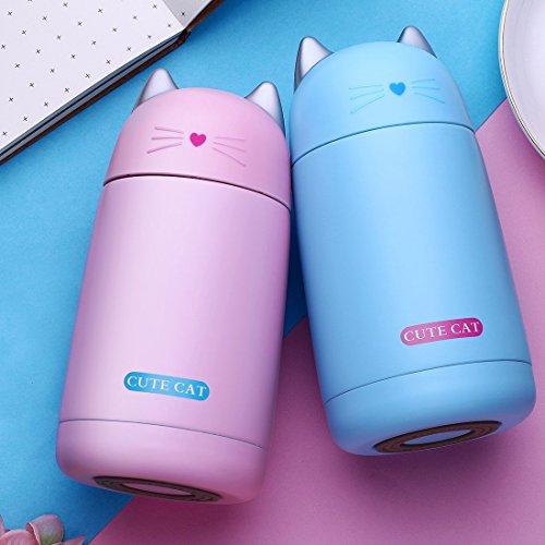 Kinder Vakuum Isolierte Edelstahl-Flasche Travel Kaffee Tasse cute Cat Vakuum Cup Fläschchen Sport Flasche für Kinder