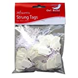 White Strung Mini Pricing Tags - Pack of 200 - Size 13mm x 20
