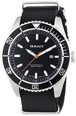 GANT SEABROOK MILITARY - Reloj Analógico de Cuarzo para Hombre, correa de Nailon color Negro de GANT