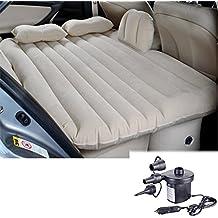 DPAIR-Coche inflable cama portable utiliza para el recorrido al aire libre, camping, el resto, con la bomba de aire de coche (beige)