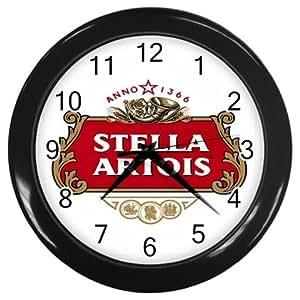 Stella Artois Beer Logo Wall Clock Black 10 Quot Free