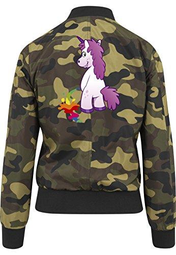Peeing Unicorn Bomberjacke Girls Camouflage Certified Freak-XL