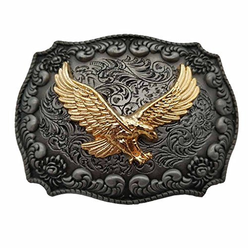 YONE Hebilla de cinturón Golden Eagle Western Belt Buckle