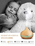 VicTsing 300ml Fragrance Essential Oil Diffuser for Aromatherapy with Adjustable Mist Modes Humidifiers, Ultrasonic Aroma Diffusers with Auto Shut-off, 7 Colorful LED Lights for Baby Room, Home, Spa - Yellow Wood Grain
