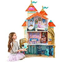 KidKraft 65939 Disney® Princess Ariel Land to Sea Castle wooden Dollhouse with 3 levels of play and 12 accessories included
