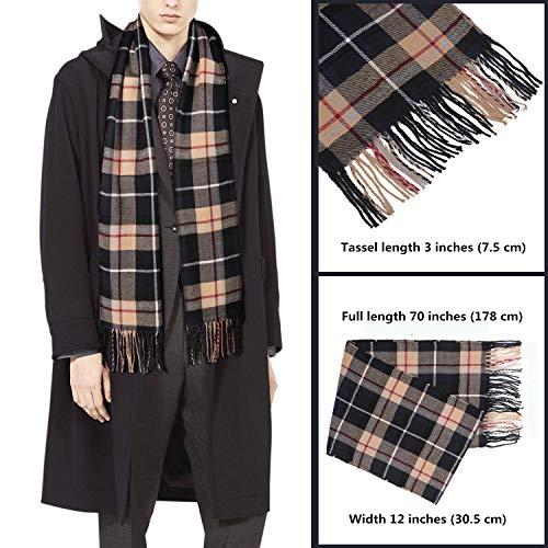 27dbf161e163 Echarpe Homme – Plus Douce que le Cachemire Wool Touch – Echarpe Tartan  Homme Femme ...