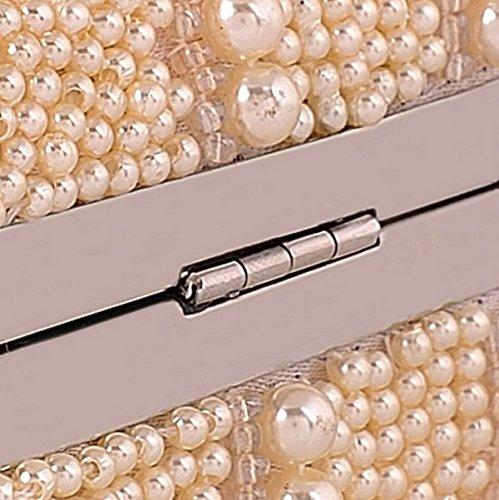 Strawberryer Europe Et Les États-Unis Evening Package Exquise Pearl Sac D'embrayage Banquet Décoration Wallet Champagne