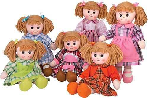 Bambola pezza di stoffa 50 cm. vari soggetti