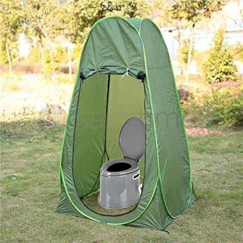 LIVIVO ® Lightweight and Portable 5L Camping Toilet with Instant Pop Up Privacy Tent – Toilet Complete with Seat, Lid, Handles and Roll Holder – Tent Pops Up in Seconds for Instant Private and Personal Toilet or Shower Cubical – Ideal for Camping Caravan Picnic Fishing and
