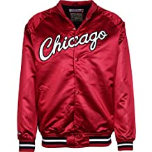 Mitchell   Ness NBA Satin Chicago Bulls Chaqueta universitaria 4f643ca0a6f