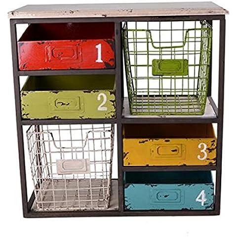 GYN Creativo americano rustici antichi Oid Moda Nostalgia Retro Ferro Legno Gabinetto della scatola per cucina domestica decorazione della barra