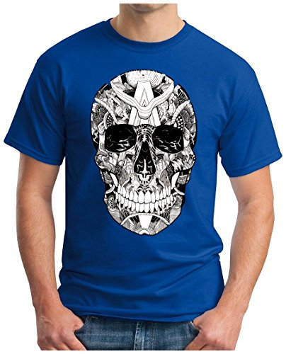 OM3 - SKULL - T-Shirt SUNGLASSES TOTENKOPF 666 ROCKER BIKER ROCK HEAVY  METAL MUSIC
