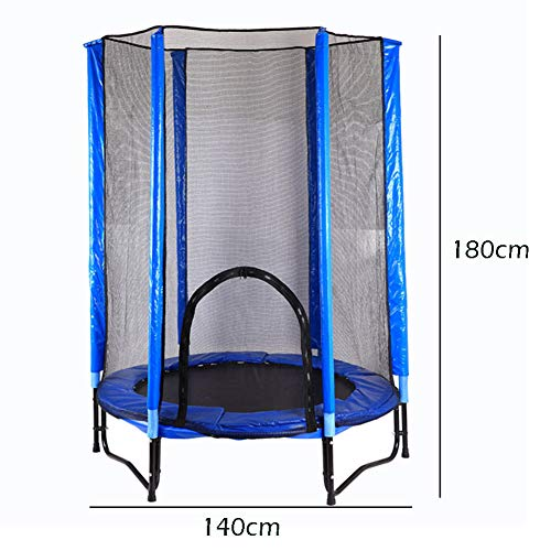 Trampolines 4.6ft/140cm with Safety Enclosure, Fun and Fitness for childrens Kids Adult, indoor Outdoor Garden Exercise Tools