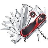 Victorinox Taschenmesser Evolution S54 (32 Funktionen, Ergonomisch, Feststellklinge) rot/schwarz