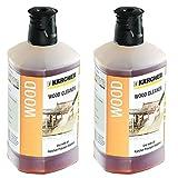 Kärcher 3in1Holz Böden Hochdruckreiniger Waschmittel-Reiniger für K2K4K5K7Modelle (2x 1L Flasche)