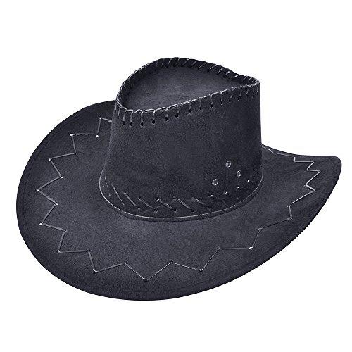 (Bristol Novelty bh438Cowboy Hat genäht schwarz, One Size)