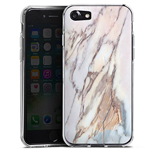 Apple iPhone X Silikon Hülle Case Schutzhülle Marmor Marble Look Muster Silikon Case transparent