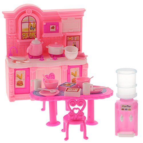 MagiDeal Set de Meuble de Maison de Poupée Kit de Cuisine Décoration pour 1/6 Dollhouses Blythe Licca