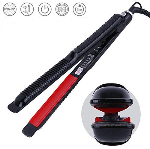 Haarglätter Ionic Instant Beheizte Anti Frizz Keramik Flat Iron mit Locking Scharnier, digitale Bildschirm richten und Curling Hair Styling Tool, 140 ° C bis 220 ° C 100-240 V Dual Voltage