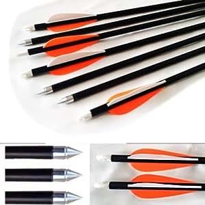 10 Caccia Arrow Hunter Scocche Estrasse Frecce Fibra Di Vetro Bersaglio Pratica Arrow 81.3cm