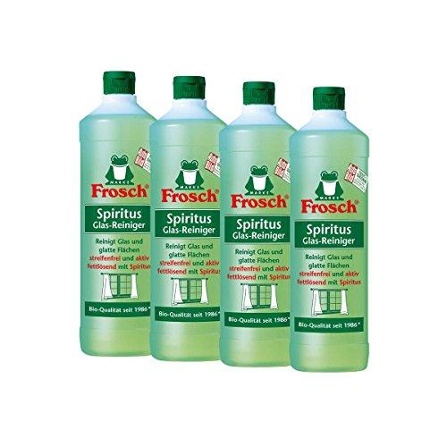 4x Frosch Spiritus Glas-Reiniger 1 Liter