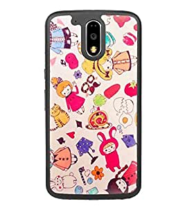 Fuson Designer Back Case Cover for Motorola Moto G4 :: Moto G (4th Gen) (doll kids beautifull dolls cute dolls Naughty Cat)