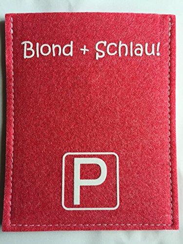 """Preisvergleich Produktbild Parkscheibe park it - """"Blond + schlau!"""" Metz Violan Veganer Filz Parkuhr Rosa"""