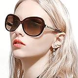 FIMILU Donna Alla Moda UV400 Lente Polarizzata Occhiali, Occhiali da Sole per la Guida di Strass Decorata Cornice