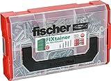 fischer FIXtainer Hält-Alles-Box - Dübelset mit Spreizdübel SX, Universaldübel UX R, Gipskartondübel GK, Gipskartondübel Metall GKM und passenden Senkkopfschrauben - 240 Teile - Art.-Nr. 532893