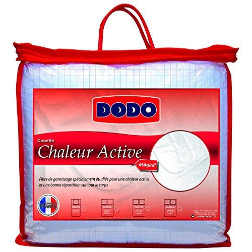 Dodo 27156 240/260 Couette Chaleur Active Blanc + Quadrillage en Fil de Carbone 240 x 260 cm