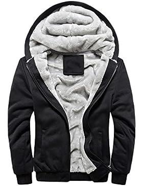 SHOBDW Hombres sudadera con capucha de invierno abrigo de lana caliente chaqueta suéter