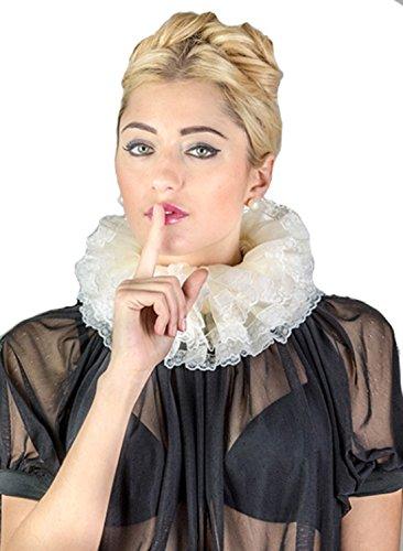 Tudor Für Erwachsene Kostüm - Frauen Hals Halsband Elisabeth-Zeit Gr. One size, 5.5cm height x 6.5cm depth