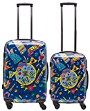 Packenger One World by Della Koffer 2er-Set M+L, Blau